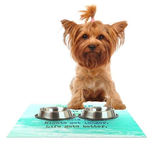 Kess InHouse Monika Strigel Summer XXL Feeding Mat for Pet Bowl, 18 by 13-Inch