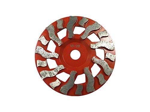 Blastrac CGF-7BTD Concrete Supreme Cup Wheel 18 Seg Aggressive Blade, 18/20 Grit, 7''