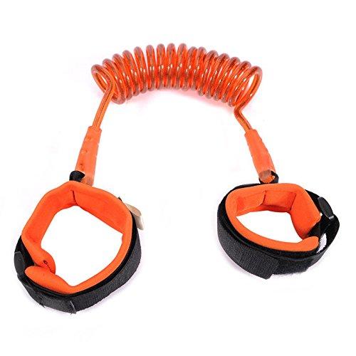 S&M TREADE-Toddler Kid Baby Safety Anti-lost Strap Link Harness Child Wrist Band Belt Reins (Orange) (Orange City Halloween Block Party)