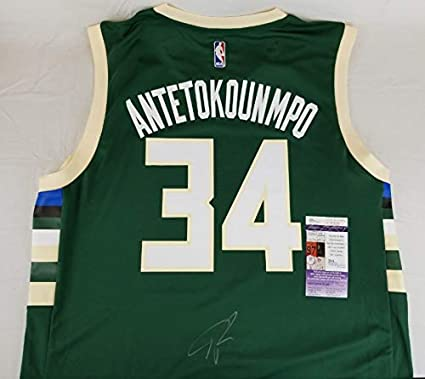 Image Unavailable. Image not available for. Color  Giannis Antetokounmpo  Signed Milwaukee Bucks Adidas NBA Jersey ... bbc90a754