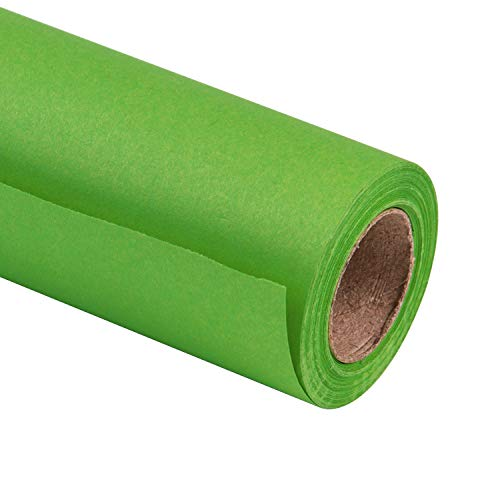 RUSPEPA Green Kraft Wrapping Paper - 81.5 Sq Ft Heavyweight Paper for Wedding,Birthday, Shower, Congrats, and Holiday Gifts - 30Inch X 32.8Feet Per Roll