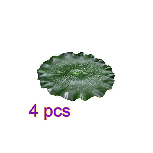 Placemat Lotus leaf,4 Pcs Waterproof Oil-proof Non-slip Insulation High Temperature Resistance Artificial Plant Mat by TRIEtree