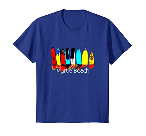 Kids Myrtle Beach Surf T-Shirt: Men, Women, Kids 8 Royal - Women Myrtle Beach