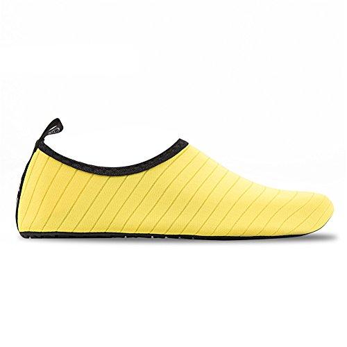 Aqua Chaussure Hommes Bain Water Beach Rapide Rayures Pour De Hmiya Et Schage Femmes Shoes Jaune Barefoot Chaussettes Yoga qq1gwvr