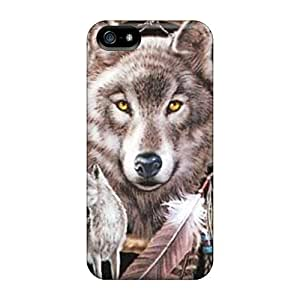 New Premium Mwaerke Dreamcatcher Wolf Skin Case Cover Excellent Fitted For Iphone 5/5s by lolosakes