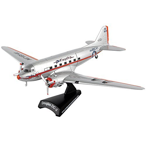 American Airlines DC-3 Die-cast Metal 1:144 Scale Model Plane - Moving (144 American Airlines)