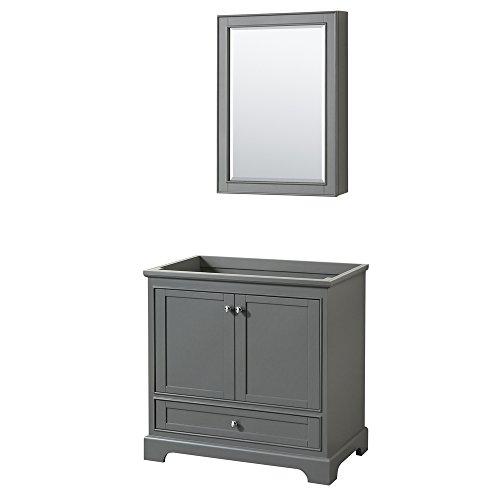 CS202036SKGCXSXXMED Deborah Single Vanity Countertop, No Sink, and Medicine Cabinet, 36