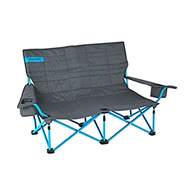 Kelty Low Loveseat Chair, Smoke/Paradise Blue