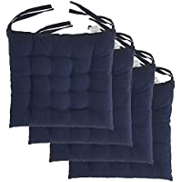 "Cottone 100% Cotton Chair Pads w/Ties (Set of 4) | 16"" x..."