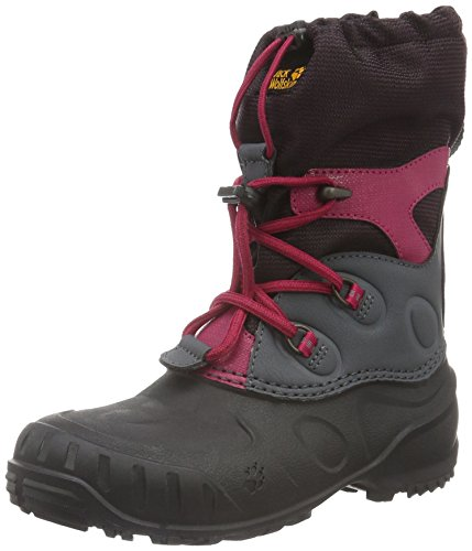 Jack Wolfskin Unisex-Kids Iceland Passage High K Snow Boot, Azalea Red, 6.5 M US Big Kid by Jack Wolfskin