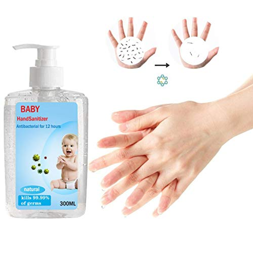 Large capacity 300ML Disposable No Clean Waterless Hand Sanitizer Gel/Kills 99.9 Percent of Harmful Substance/ Portable Hand Sanitizer/24-Hour Protection Adults & Children,Travel Waterless (100ml)