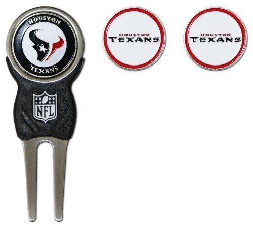 NFL Houston Texans Divot Tool Pack With 3 Golf Ball (Houston Texans Tool)