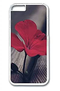 B Red Flowers Slim Soft Cover for iPhone 6 Plus Case ( 5.5 inch ) PC Transparent Cases