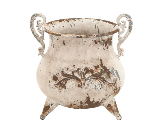 Rustic Urn - Deco 79 Classy Designed Metal Vase with Rusty Look and Antiqued Charm
