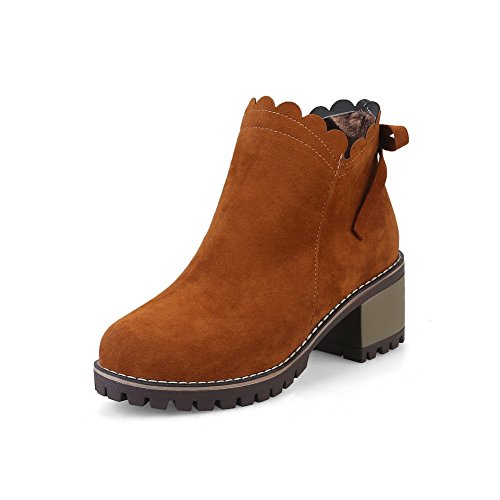 BalaMasa Suede Brown ABL10396 Boots Womens Casual Slip Resistant Retro ZCrZvqw