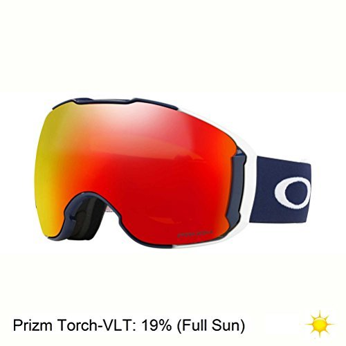 Oakley Airbrake XL Snow Goggles, USOC Blazing Eagle Frame, Prizm Torch Iridium Lens, - Oakley Goggles Blue Ski