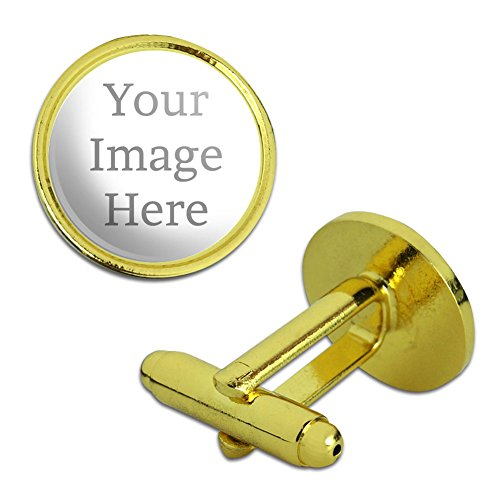 (Graphics and More Self-eez(TM) Custom Personalized Round Cufflinks - Gold)