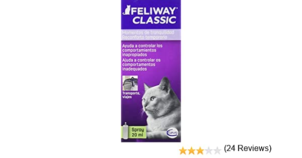 Feliway Classic, Spray Feromona Facial Anti Estrés para Gatos - 20 ml: Amazon.es: Productos para mascotas