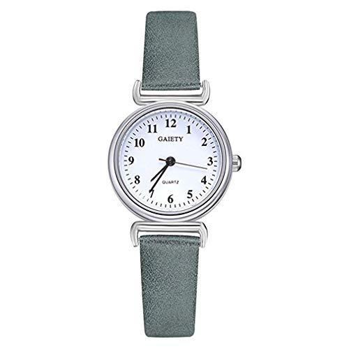 - Windoson Donna Digital Simple Quartz Watch Cinturino in Pelle squisita Orologio da studente (Green)