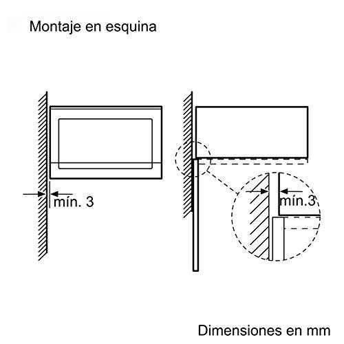 Balay 3CG5172N0 Microondas integrable // encastre con grill color negro 800 W // 1000 W