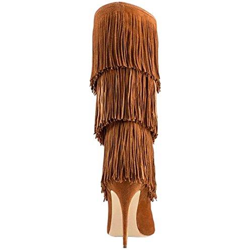 EKS - Botas para mujer marrón claro