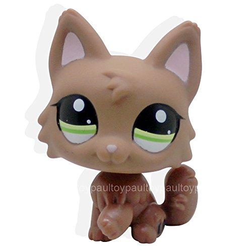 #2440 Littlest Pet Shop LPS Toys Dog Puppy Brown Wolf Fox Gr