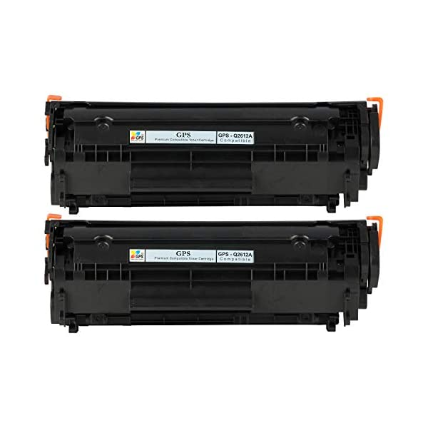 GPS Compatible Toner Cartridge Replacement for HP 12A Q2612A Standard Yield(2,000 Pages) for Printers(2pk - Black)