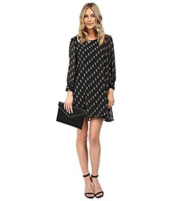BB Dakota Women's Warren Printed Dress Black Dress SM (US 4)