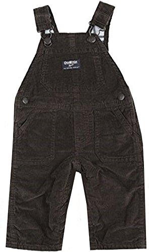 Corduroy Plaid Overalls (OshKosh B'Gosh Baby Boys Flannel Lined Cord Overalls Mint Plaid 6 Months)