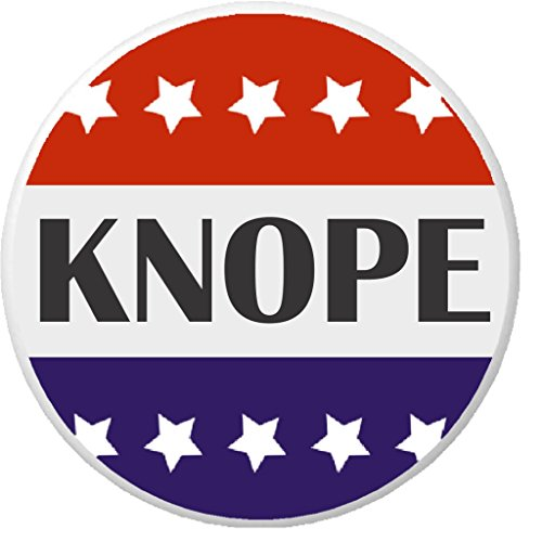 """Knope Red White Blue Stars 2.25"""" Large Pinback Button Pin President"""