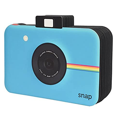 Polaroid Snap Themed Scrapbook Photo Album for Zink 2x3 Photo Paper Projects (Snap, Zip, Z2300) - Blue
