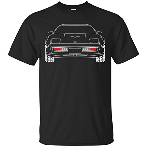 WheelSpinAddict Men's C4 Corvette T-Shirt Black