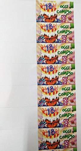 100 Piezas Notas Tarjeta Detalle Cumpleaños 18 Años: Amazon ...
