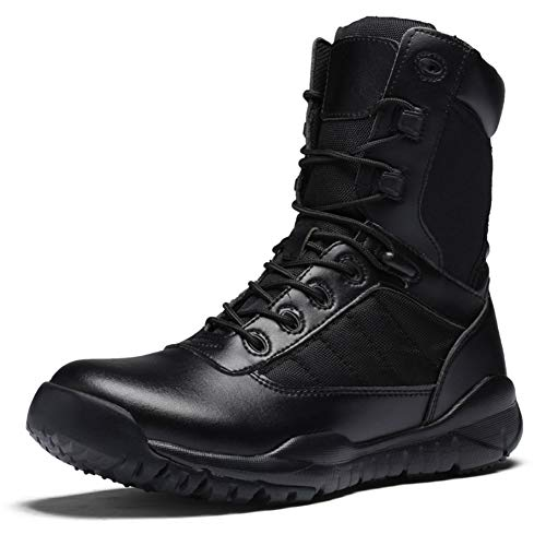 Suetar Mens Autumn High-top Waterproof and Breathable Military Hiking Boots LQ31005