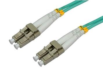 Intellinet 750134 2m LC LC LSZH OM3 Aqua Cable de Fibra optica - Cable de Fibra