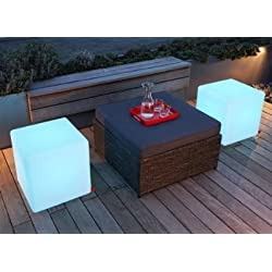 """Outdoor LED Light Cube 16"""" - Waterproof IP68 Rated,Charge By Induction,Cordless with remote control."""