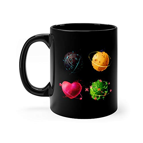 Cartoon Worlds Set Alien Cheese Plants Love Planets Cosmic Space Elements Game Greatest Tea Mugs Cup Ceramic 11 -