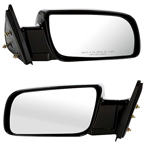 Prime Choice Auto Parts KAPGM1320140PR Side Mirror Pair Black Manual Left and (Auto Parts Mirrors)