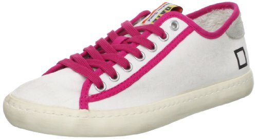 0806O sneakers donna D.A.T.E. TENDER bianco/fuxia shoes woman Fucsia