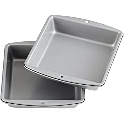Wilton Recipe Right - 8-Inch Non-Stick Square Cake Pans, Multipack of 2