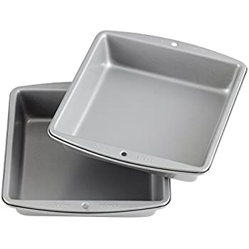 Wilton Recipe Right - 8-Inch Non-Stick Square Cake Pans, Multipack of 2
