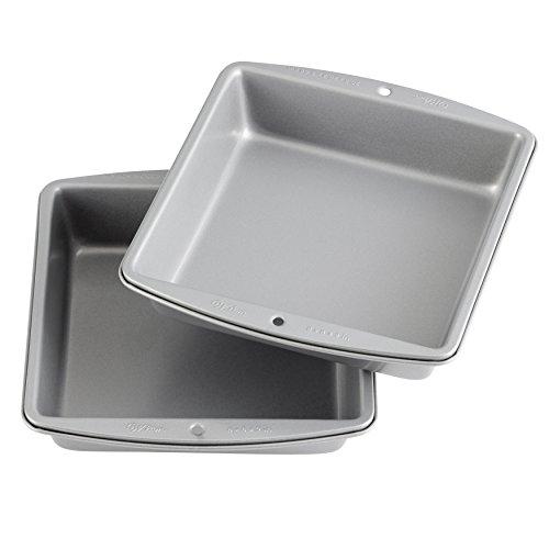 (Wilton Recipe Right - 8-Inch Non-Stick Square Cake Pans, Multipack of)