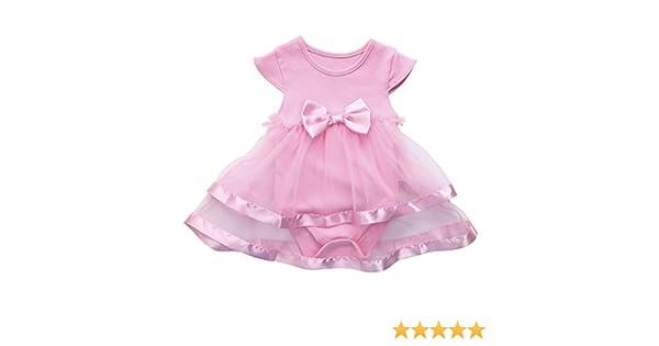 c51e82d0b Amazon.com  Baby Girl Dress Toddler Girls Summer Bowknot Tulle Tutu ...