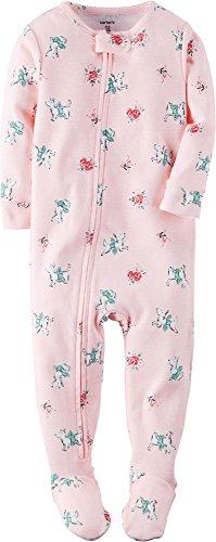 Carter's Baby Girls' 1 Piece Cotton Sleepwear, Pink/Dogs 18 Months ()