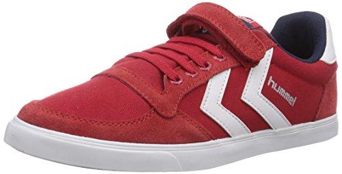 hummel SL STADIL JR CANVAS LO Mädchen Sneakers Rot (Ribbon Red 3425)