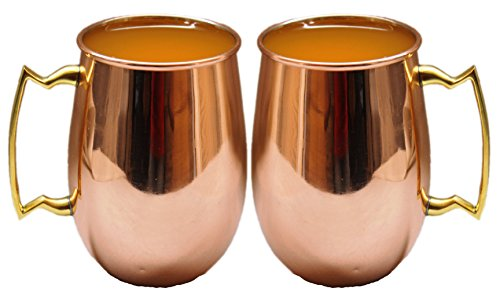 STREET CRAFT Smooth Solid Copper Authentic Copper Moscow Mule Mug with,Copper Moscow Mule Mugs / Cups, Capacity-18 Oz ,100% Food Grade Copper Set of - (Homemade Food Halloween Costume)