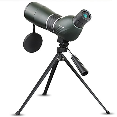 Spotting Scopes Monocular Telescope Waterproof Telescope 15-45X60 Zoom Monocular 45 Degree Angled Telescope for Birding Hunting Target Shooting with Portable Tripod