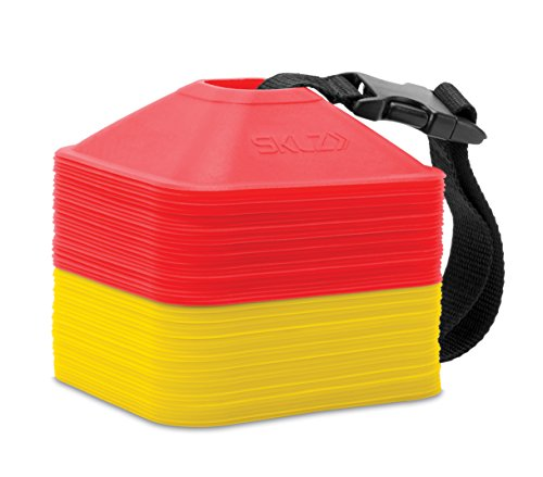 SKLZ 2-Inch Mini Cones for Agility and Plyometric Training, Set of 50
