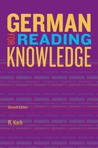 Jannach's German for Reading Knowledge 7th (seventh) Revised Edition by Korb, Richard published by Heinle & Heinle Publishers Inc.,U.S. (2013)