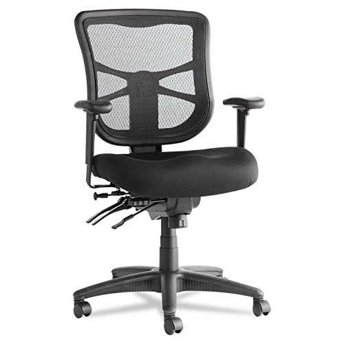 Alera ALEEL42ME10B Elusion Series Mesh Mid-Back Multifunction Chair, Black from Alera